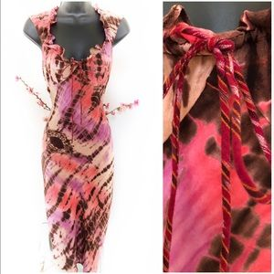 PLENTY Tracy Reese Tie Dye 100% Silk Midi Dress 2